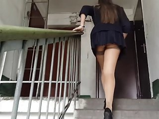 Upskirt upstairs