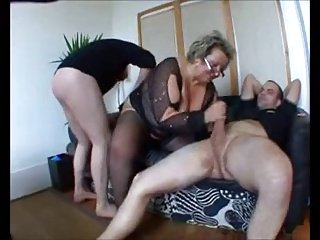 Kinky Mature Takes Two Cocks
