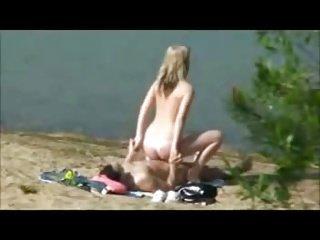 Hidden cam outdoor sex on the beach