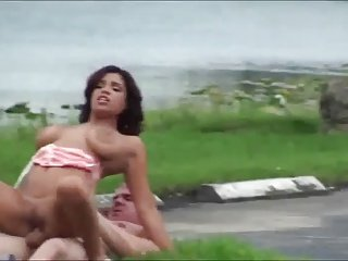 Sex in public with busty latina