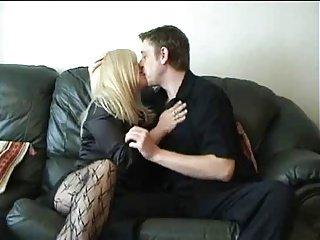 Blonde milf fucks younger guy.