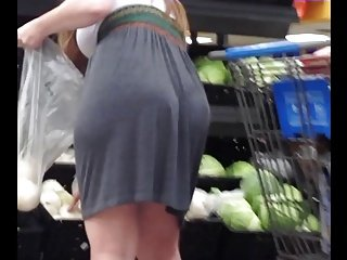 Pawg in Grey Dress