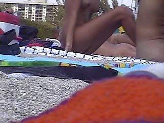 naked girl on a beach