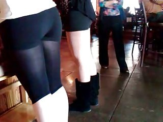 Candid Dancer Booty In Spandex
