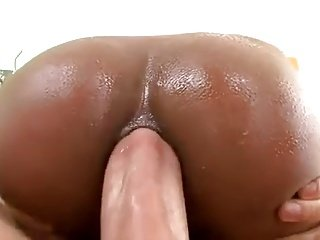 Big cock in cute ass black