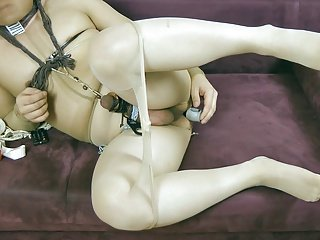 My little bdsm with pantyhose and toys 2