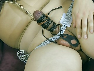 My little bdsm with pantyhose and toys 1