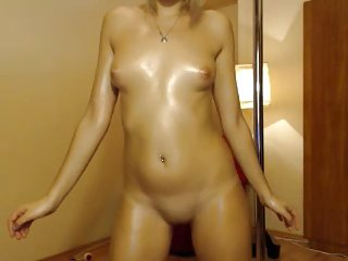 cute blond webcam naked tease