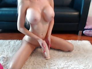Busty Blonde Teases On Cam
