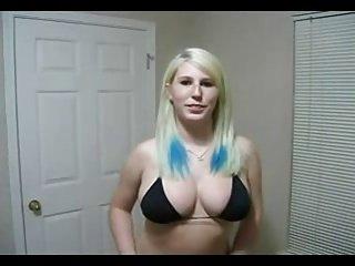 疯狂的性感金发女郎肛门