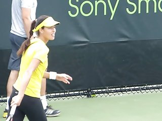 Ana Ivanovic hot as hell in spandex