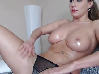 MissAngelique big boobs rubbing the pussy show