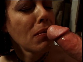 Mature brunette fucking young guy