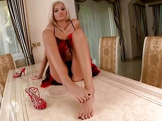 POV girl shows her feet