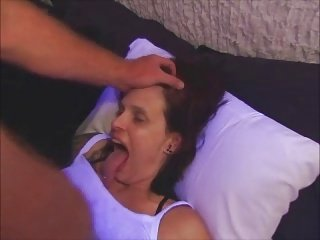 Tongue goddess throat fuck and facialized