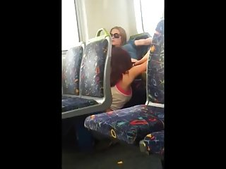 Girl Eat Pussy in the Train