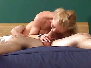 Hot Mature Blonde Cougar in Red