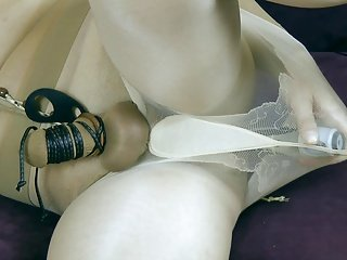 My little bdsm with pantyhose and toys 6