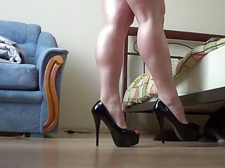 Trying out different heels