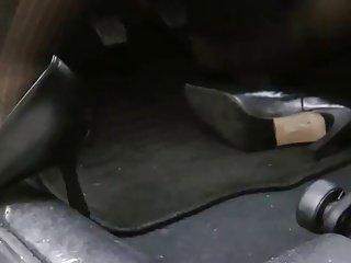 black nylons revving and dash