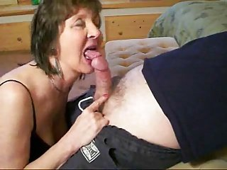 Horny Blow job With Sexy Granny