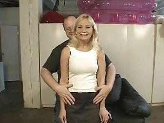 American girl Bobbi and old man