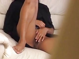 Ebony Teen Caught Masturbating