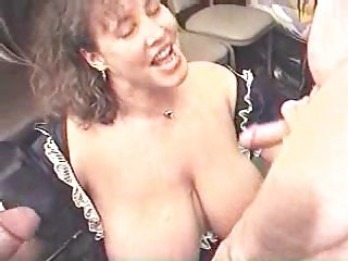 thick hot lady gets a jizz shower