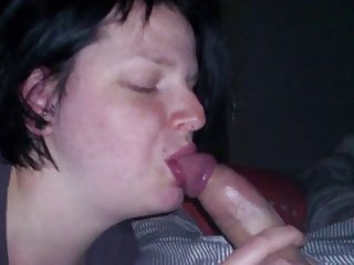 Amateur mature blow job and cum swalow