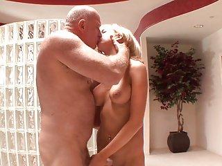 Blonde fuck by older man