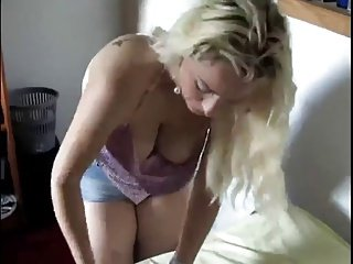 sexy blonde downblouse by bradpiet