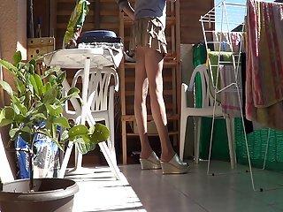 Tan & skirt