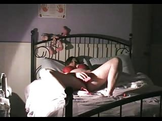 My mom masturbating on bed caught by hidden cam