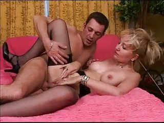 Hungry mature french of young dick