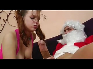 Cute Teen Gets An Early Present From Santa
