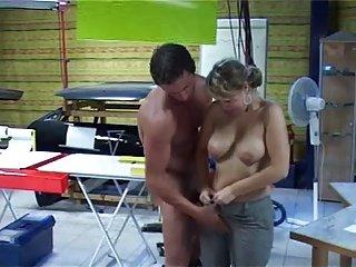 Amateur Big Boob German girl exhibition for BF