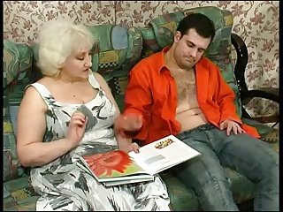 Kinky Blonde Granny Seduces Dick