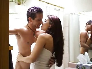 hot young couple bathtub sex