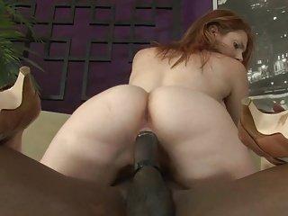 Busty Big Booty Redhead Fucks Big Dick