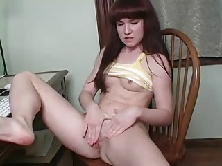 Teen caught playing with herself JOI
