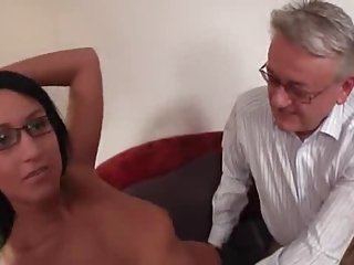 Young college girl fuck by old man