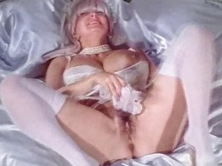 Big Tits Granny Candy Samples Masturbates in Wedding Dress