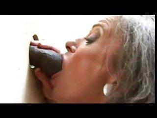 Gloryhole granny & Big black dick