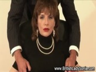 Mature Lady Sonia blow job cumshot