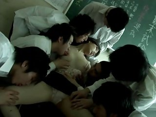 Miss Lady Professor (Gangbang erotic scene) MFM