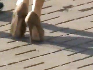 High heeels in Ukraine 13 green stilettos - Stabilized