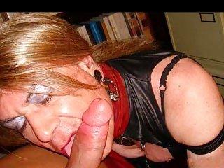 Lara Tranny sucking a big Arab dick