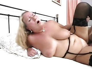A plump mature German lady