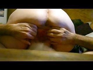 Horny grandma squirting by man