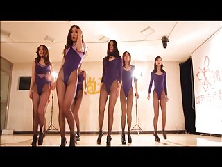 Chinese leggy tight meat dancing